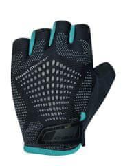 CHIBA Cyklistické rukavice pro dospělé Road Master černé/ modré petrolejové