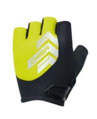 CHIBA Cyklistické rukavice pro dospělé Reflex neónově žluté