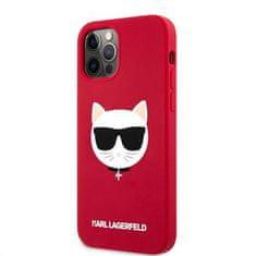 Karl Lagerfeld Choupette Head silikonový kryt pro iPhone 12 Pro Max 6,7 KLHCP12LSLCHRE, červený
