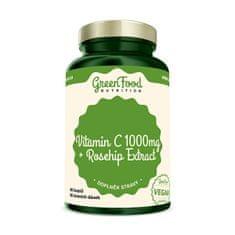 GreenFood Nutrition Vitamin C 1000 + Extrakt ze šípků 60 kapslí