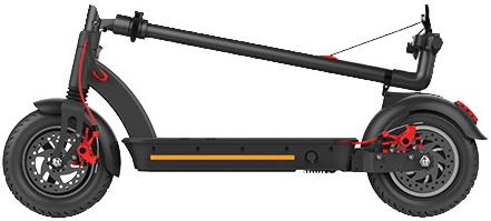Elektrická koloběžka Vivax MS Energy E-romobil e10 skládací nízká hmotnost lehká jízdní režimy nafukovací preumatiky multifunkční LCD displej hliníková kontrukce rychlost 35 km dojezd 40 km LED světla elektrokoloběžka výkon 450 W dobíjení během jízdy Energy recovery system