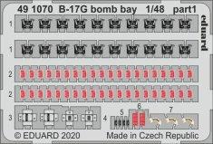 EDUARD B-17G bomb bay lepty 1/48