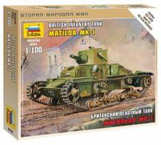 Zvezda British Light Tank Matilda Mk I 1/100