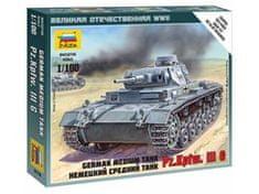 Zvezda German Tank Panzer III 1/100