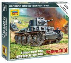 Zvezda German Light Tank PZ.KPFW.38(t) 1/100