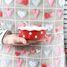 Isabelle Rose Keramická forma na koláč červená 12 cm