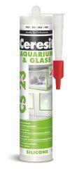 Ceresit  CS 23 silikón na sklo a akváriá biely 300ml