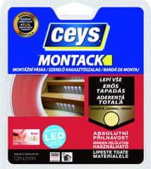 Ceys  Montack LED páska, obajstranná lepiaca páska na montáž led pásikov 10m x 8mm