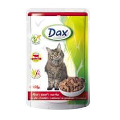 DAX kapsička pro kočky 100g hovězí