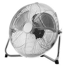 FK technics Podlahový ventilátor 35cm, 3 rychlosti, chrom, 70W