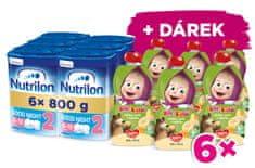 Nutrilon 2 Good Night pokračovacie dojčenské mlieko 6x 800 g, 6+