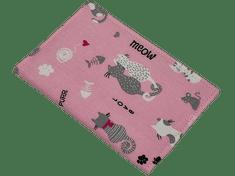 Šišipu Obal na očkovací průkaz psa nebo kočky Růžové kočky