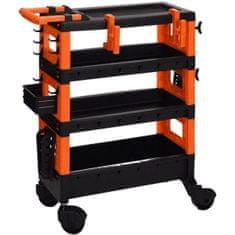 Koopman Multifunkční vozík s kolečky, 68 × 35 × 87,5 cm (1311118831)