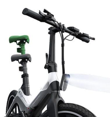 Elektryczny, składany rower Vivax MS Energy E-bike i10 do jazdy terenowej i miejskiej mocny silnik nadmuchiwane opony duże koła kompaktowe wymiary solidna konstrukcja duża pojemność baterii daleki zasięg dwustronne światło hamulec tarczowy składany zasięg 50 km