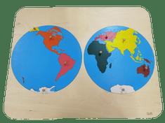 LINIT DESIGN Sestavljanka kontinenti
