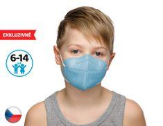 Dama Trade 10x Český respirátor FPP2 vhodný pro děti -modrý (19,9 Kč/ks)