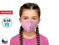 Dama Trade 10x Český respirátor FPP2 vhodný pro děti -růžový pejsek (21,9 Kč/ks)