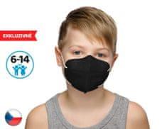 Dama Trade 10x Český respirátor FPP2 vhodný pro děti- černý (19,9 Kč/ks)