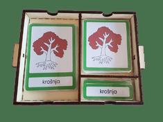 LINIT DESIGN Škatlica za Montessori kartice
