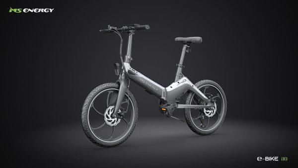 Elektrické skládací kolo Vivax MS Energy E-bike i10 do terénu i do města výkonný motor nafukovací pneumatiky velká kola kompaktní rozměry robustní konstrukce velká kapacita baterie extrémně dlouhý dojezd oboustranné světlo kotoučové brzdy skládací ebike dojezd 50 km