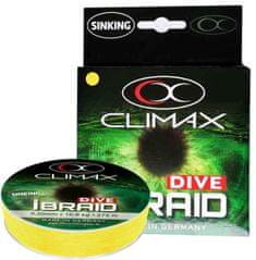 Climax Splietané potápavé šnúry iBraid Dive - 0,08mm/3,2kg/135m - fluo žltá