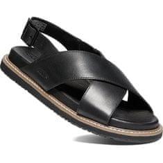 KEEN LANA CROSS STRAP SANDAL SANDAL 1022584 črno / črni ženski usnjeni sandali