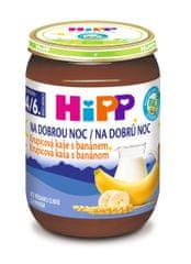HiPP BIO Krupicová kaša s banánom na dobrú noc - 6x190g