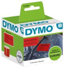 Dymo LW štítky pro přepravu / jmenovky, červený papír, 101x54mm, 2133399