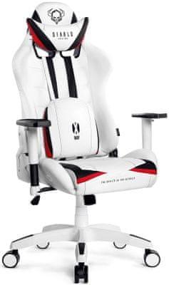 Gaming kolečková židle Diablo-Chairs X-Ray, XL, černá/červená (5902560336115) nastavitelné opěradlo nastavvitelné područky 200 kg hr pěna