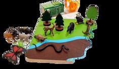 LINIT DESIGN Plošča narava s figuricami safari - komplet