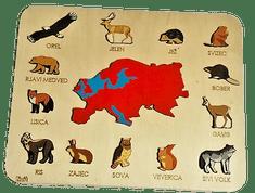 LINIT DESIGN Lesena sestavljanka živali Evrope