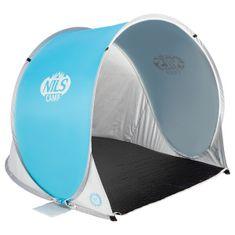 NILS CAMP samorozkládací plážový stan NC3173 modro-šedý