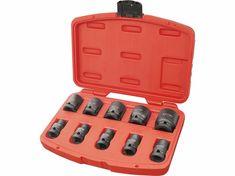 """Extol Premium Rázové nástrčné kľúče, 1/2"""", 10ks, CrMoV, fosfátované"""