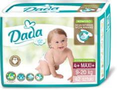 Dada Extra Soft, jednorazové plienky, veľ.:4+ 9-20 kg 42 ks