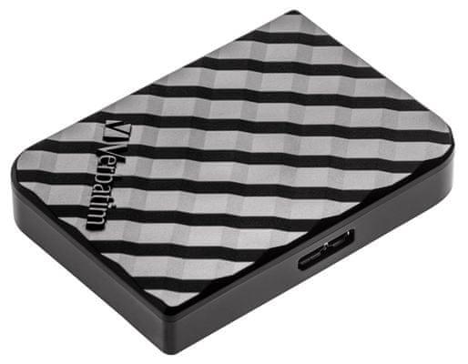 Vysokorychlostní externí pevný SSD disk Verbatim Store ´n´ Go Mini SSD 512GB (53236) USB 3.1 Gen 2,spouštění virtuálních zařízení