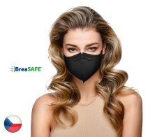 BreaSAFE® 5x Český NanoRespirátor BreaSAFE® FFP2 - Znovupoužitelný - černý M ( 39,90 Kč/kus)
