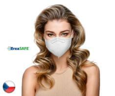 BreaSAFE® 10x Český NanoRespirátor BreaSAFE® FFP2 - Znovupoužitelný - bílý L (39,90 Kč/kus)