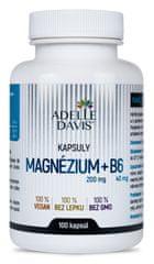 Adelle Davis Magnézium, 200 mg a B6 40mg, 100 kapsúl