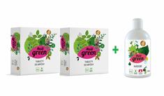 Real Green Clean tablety do myčky 2x 40 ks + Prostředek na nádobí 500 ml zdarma