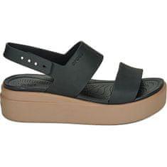Crocs Ženske sandale Crocs Brooklyn Low Wedge W Black / Mushroom 206453-07H