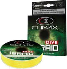 Climax Splietané potápavé šnúry iBraid Dive - 0,10mm/4,1kg/135m - fluo žltá