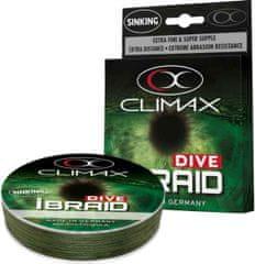 Climax Splietané potápavé šnúry iBraid Dive - 0,10mm/4,1kg/135m - olivová