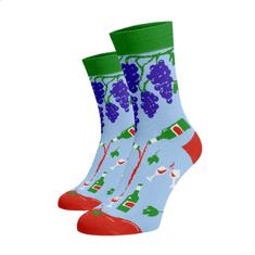 BENAMI Veselé ponožky Červené víno Světle modrá Bavlna 35-38