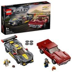 LEGO Speed Champions 76903 Chevrolet Corvette C8.R in 1968 Chevrolet Corvette