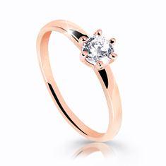 Cutie Jewellery Úchvatný trblietavý prsteň z ružového zlata Z6485-10-X-4 zlato ružové 585/1000