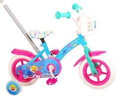 "Volare Baby Shark Detský bicykel 10"" - Pink Blue"