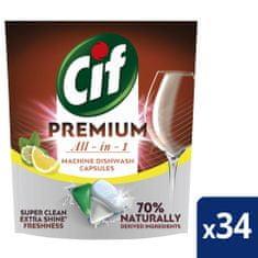 Cif Premium Lemon Kapsuly do umývačky riadu 34 ks