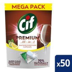Cif Premium Lemon Kapsuly do umývačky riadu 50 ks