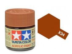 Tamiya X-34 Metalic Brown Acrylic Paint Mini 10ml