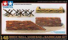 Tamiya brick wall, sand bag and barricade set 1/48